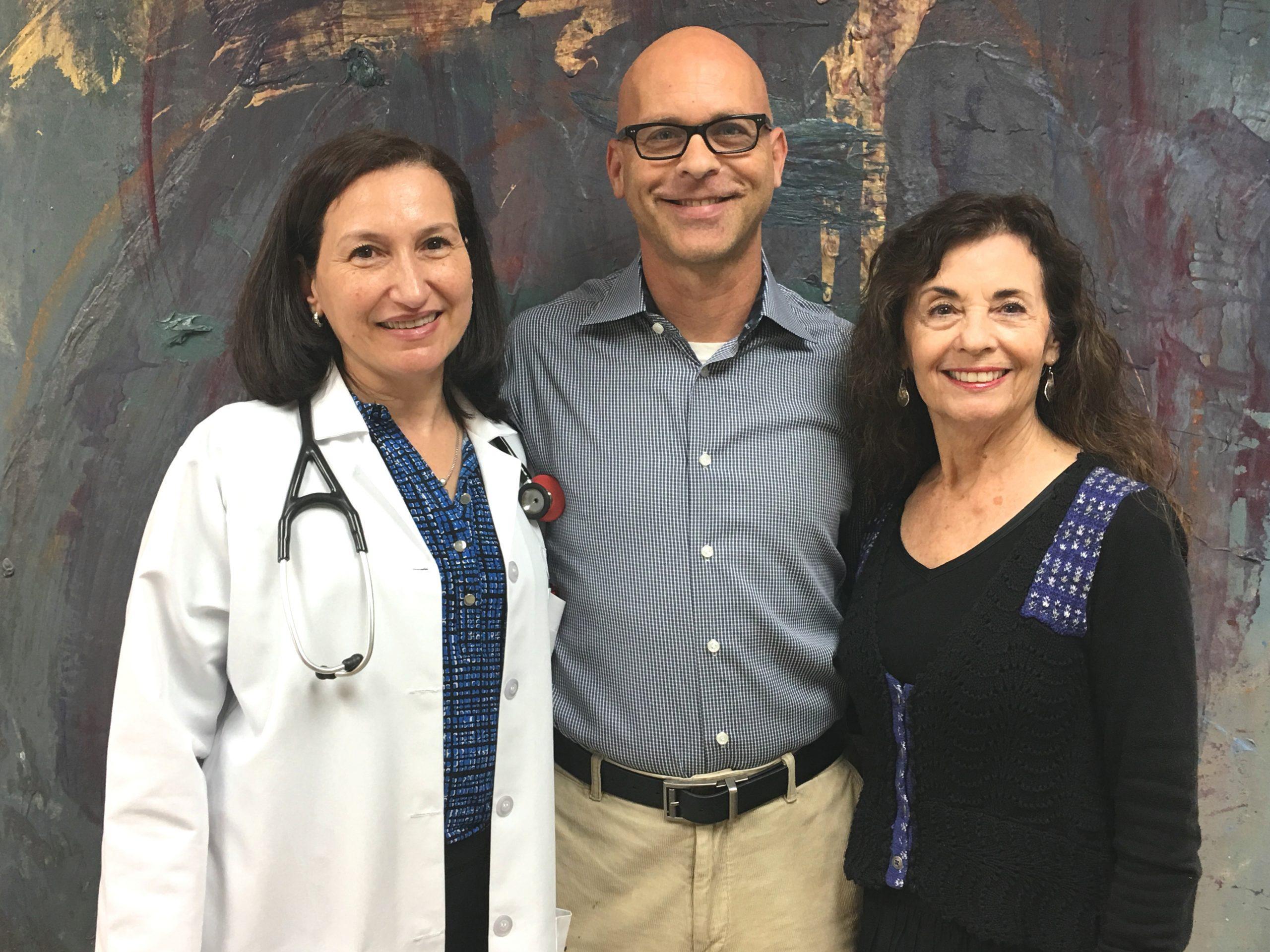 Photo: Dr. Lilian Zorilla, Rick St. Pierre and Christine Bonney
