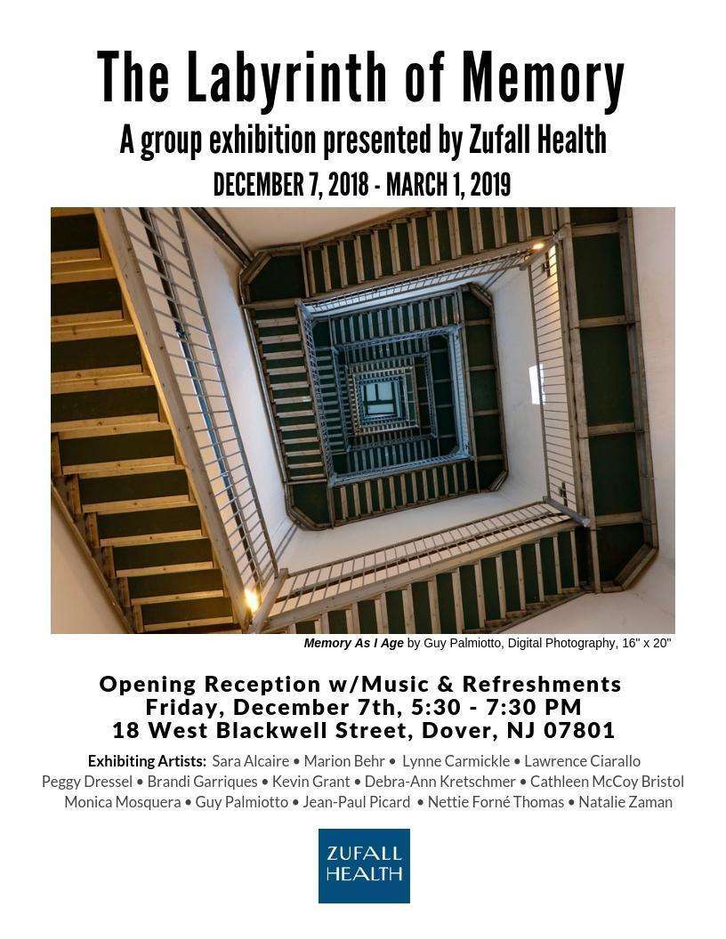 Flyer for Zufall's winter art exhibit