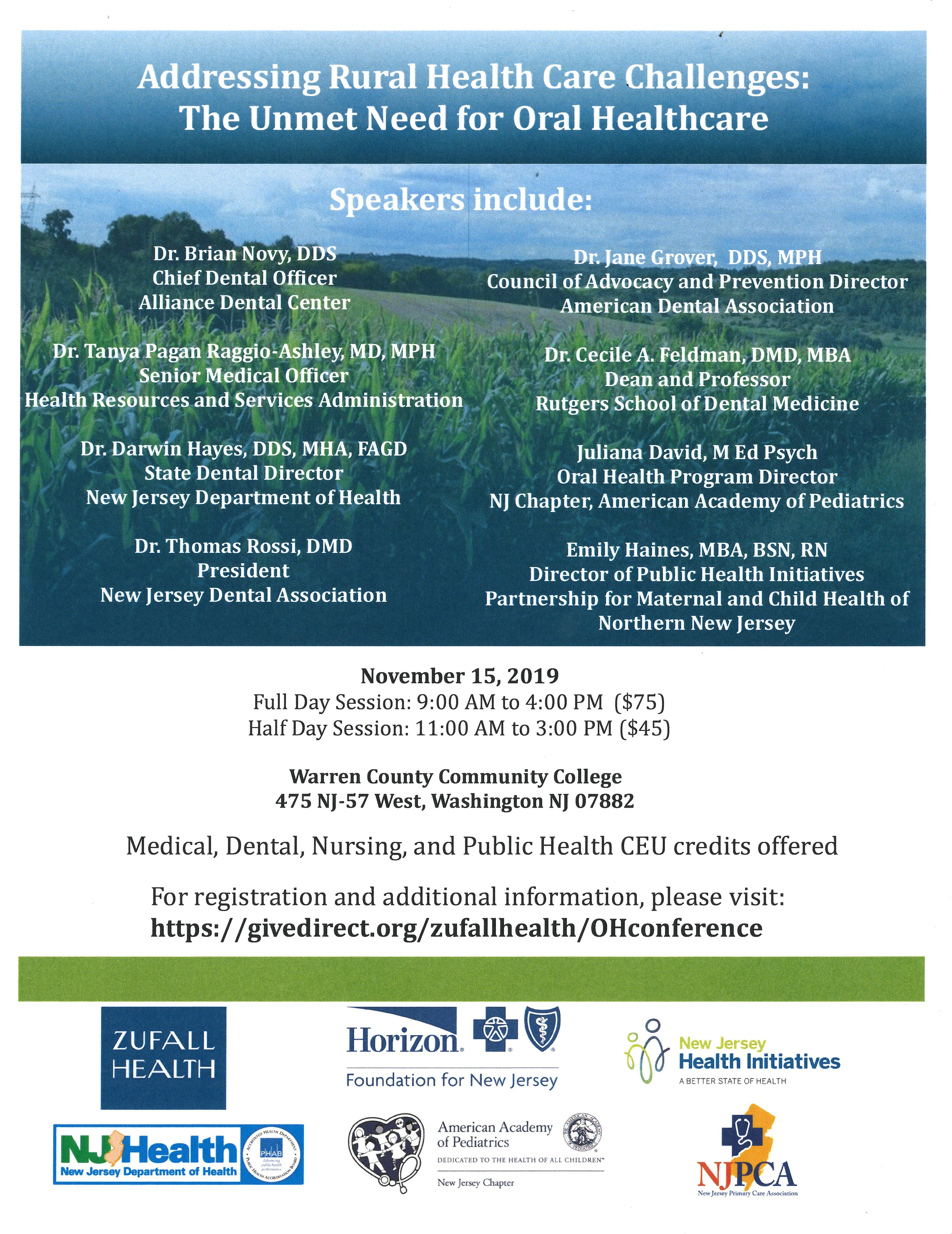 Rural Oral Health Conference Flyer